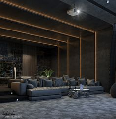 home theater on Behance Salas Home Theater, Home Theatre, Home Theater Room Design, Home Cinema Room, Home Theater Decor, Best Home Theater, At Home Movie Theater, Home Theater Rooms, Home Theater Seating