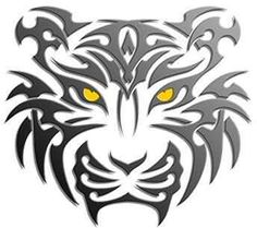 Yellow Eyes Tiger Tattoo Design