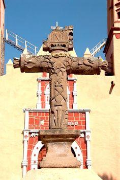 colonialmexico: The Carved Crosses of Hidalgo; Santiago Anaya
