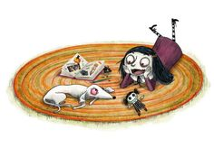 Ghoulia: Making Friends Can Be Scary by Barbara Cantini, 48 pp, RL 3 Dead Dog, Evil Villains, Zombie Girl, Chapter Books, Kids Reading, Fantasy Books, Children's Book Illustration, Childrens Books, Scary