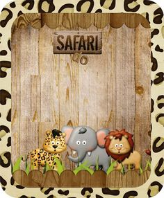 Making Propria Party: KIT CUSTOM THEME SAFARI