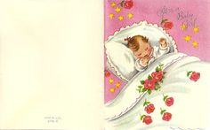 Vintage Baby Girl Announcements