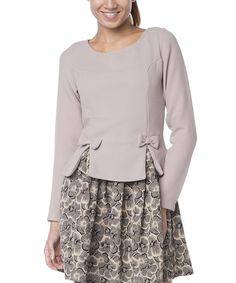 Another great find on #zulily! Gray Floral Layered Dress #zulilyfinds