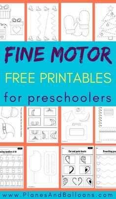 Fine motor skills worksheets and printables for preschoolers - scissor and cutting skills, tracing, Preschool Journals, Preschool Writing, Preschool Learning Activities, Physical Activities, Physical Education, Dementia Activities, Health Education, Kids Education, Babysitting Activities