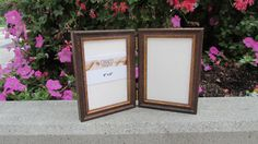 This 5 x 7 Hinged Photo Wood Frame With Gold by CiracoFramers
