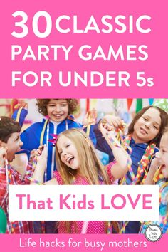 Party games for children ... 30 easy to run traditional birthday party games for kids. Organising a children's birthday party can be a LOT of work and hosting it can be even harder! So planning simple party games into the party is a great way to know the kids will be entertained and happy. #ChildrensPartyGames #KidsParty #KidsPartyideas #childrensparty #childrenspartyideas #partyplanner #partyideas #celebrations