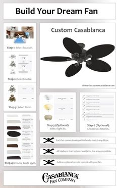 Check out the NEW Custom Casablanca Configurator and try building your dream Casablanca Panama ceiling fan! #homedecor