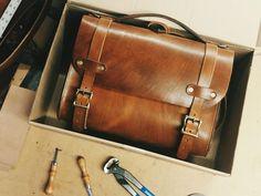 Waylander Satchel Handmade Heavy Duty Leather Messenger - craftandlore.com