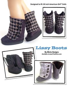 """Lissy Boots 18"""" Doll Shoes"""