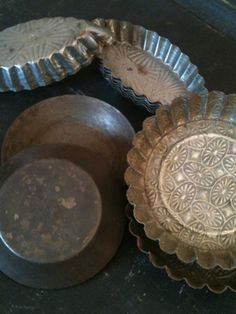French Tartlette Tins...love these little tins...I think I need a few more.