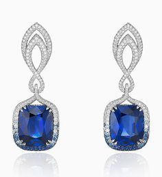 Sapphire and Diamond Earrings from Chopard's Red Carpet Jewellery collection 2016