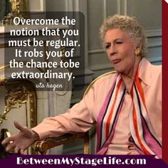 Until you're willing to take center stage, you may never get noticed. #outstanding #utahagen http://BetweenMyStageLife.com