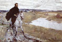 Петр Тимофеевич Фомин (1919-1996) Пушкин по дороге из Тригорского в Михайловское.