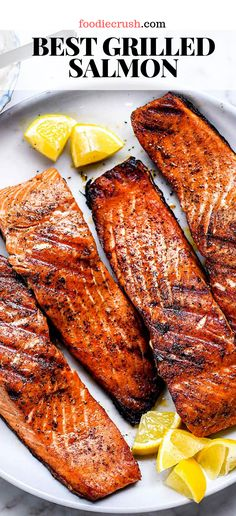 grilling recipes How To Make The Best Grilled Salmon Grilled Salmon Recipes, Healthy Salmon Recipes, Seafood Recipes, Cooking Recipes, Easy Grill Recipes, Healthy Grilling Recipes, Best Grilled Salmon Recipe Ever, Dinner Recipes, Chicken