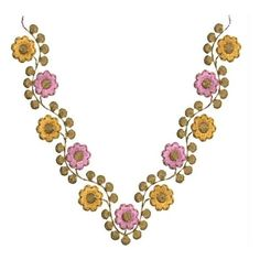 Small Rose 6x10 neckline Embroidery Designs - EmbroideryShristi