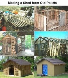 building with old pallets