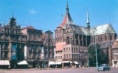 Rostock, DDR, Neuer Markt, 50er, Foto Walter Weidemann