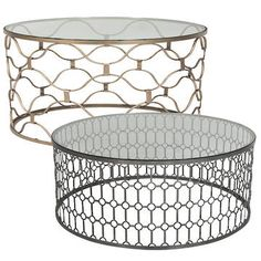 a round metal coffee table | coffee, metals and rounding