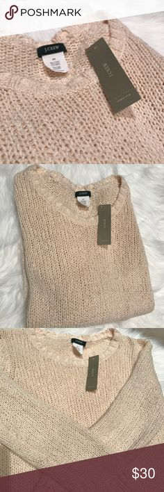 Jcrew peachy cream sweater Peachy cream colored sweater. Brand new J. Crew Sweaters