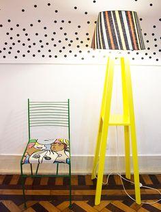 Como renovar uma cadeira com tinta spray + espuma e tecido (passo-a-passo) - dcoracao.com - blog de decoração e tutorial diy