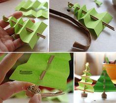 NapadyNavody.sk | 9 nápadov na dekoračné vianočné stromčeky, ktoré vyrobíte spoločne s vašimi deťmi