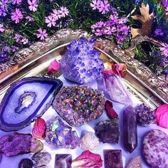 Pink and Purple Crystals.