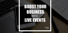 Whether free or paid, live events are a GREAT way to boost your business! Small Business Development, Live Events, Free, Hate