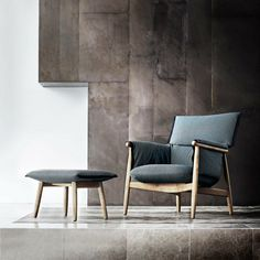 Eoos Embrace Lounge Chair and Ottoman in Room Carl Hansen and Son
