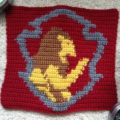 Gryffindor House Crest square for Harry Potter Afghan