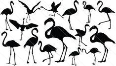 Flamingo Silhouette Vector (15)