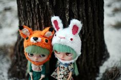 fox and rabbit hats