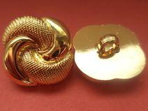 11 KNÖPFE gold 18 x 18mm (5040-4) Jackenknöpfe