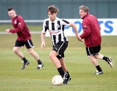 Louis Tomlinson plays soccer on April 10, 2013 for Charity <3. Team: Doncaster Rovers.