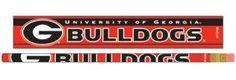 ~Georgia Bulldogs Pencil 6 Pack~backorder