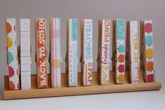 Back to School Decorative Clothespins.