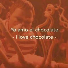 *milk chocolate* to be exact.dark chocolate is nasssty🤢 Spanish Notes, Spanish Basics, Spanish Phrases, Spanish English, English Phrases, Spanish Lessons, English Words, Learn English, Learn Spanish