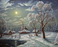 Snowy winter scene...