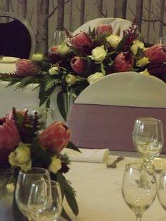 Stunning protea wedding flowers
