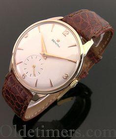 1950s 18ct rose gold vintage Zenith watch (3536)