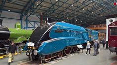 """Official World Speed Record holder for Steam Locomotives 4468 """"Mallard"""" celebrates 82 years since being turned out brand new from Doncaster Works. Mallard Train, Flying Scotsman, National Railway Museum, Train Service, Old Trains, Class Design, Steam Locomotive, Design Museum, Britain"""