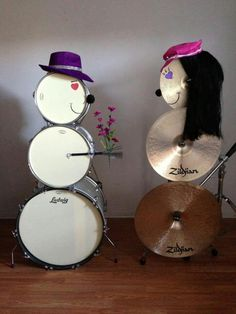 Drums hair hats  snowman snow woman, stack three drums for snow man, snowman, snowmen, stack three cymbals as snow woman snowman snow women, Girls boys,  Happy Holidays, Merry Chrimbus, Krimbus, Krampus, Merry Christmas, The perfect match Ludwig and Zildjian. :) Love man handing her flowers Happy Valentines Day Drummers Drumming Drum sets kits drum sticks