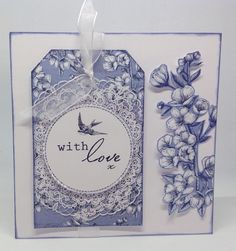 Created using Toile collection, design by Julie Hickey Craftwork Cards, Give It To Me, How To Make, Card Designs, Baby Cards, Flower Cards, Hobbies And Crafts, Cardmaking, Mothers