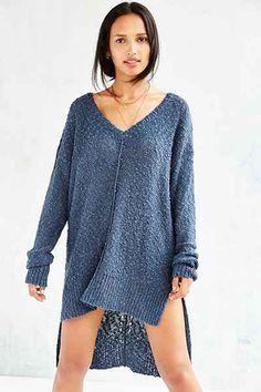 Olive & Oak Femme Stitch High/Low Sweater