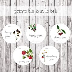 Jam canning labels