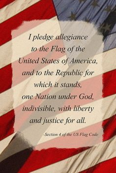 Because I pledge allegiance to the Flag of the United States of America, and to the Republic for which it stands, one Nation UNDER GOD, indivisible, with liberty and justice for all. #whyivote AMEN !!!