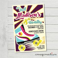 Free Printable Roller Skating Party Invitations Laylas Birthday