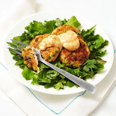 Salmon Cakes With Spicy Dressing