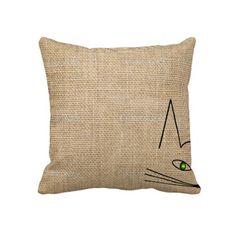 Modern Minimalist Pillow Cat Face http://www.zazzle.com/modern_minimalist_pillow_cat_face-189842917941732086?rf=238282136580680600*