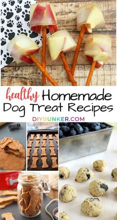 Create your own gourmet organic dog treats with these simple dog treat recipes! These homemade alternatives are healthy and easy to make whether your dog has allergies or simply prefers frozen treats. #dog #dogs #dogtreats Puppy Treats, Diy Dog Treats, Homemade Dog Treats, Gourmet Dog Treats, Healthy Dog Treats, Dog Biscuit Recipes, Dog Food Recipes, Dinner Recipes, Easy Dog Treat Recipes