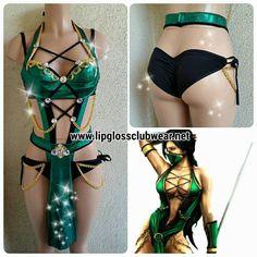 Jade Inspired Costume Rave Wear Theme Wear Dance by LipglossWear
